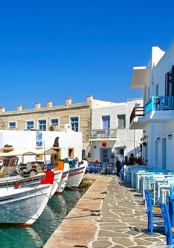 A small alley in Paros Greece